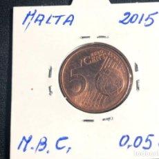 Monedas antiguas de Europa: 5 CÉNTIMOS DE EUROS MALTA 2015. Lote 157882434