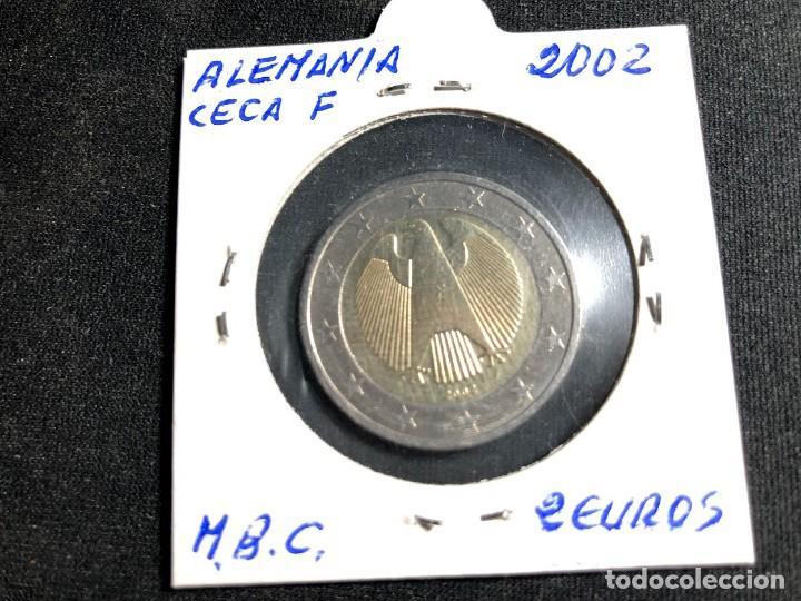 MONEDA 2 EUROS ALEMANIA 2002-CECA F (Numismática - Extranjeras - Europa)
