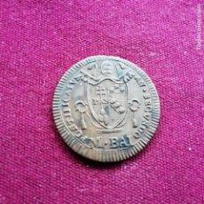 Monedas antiguas de Europa: ESTADOS DE LA IGLESIA. EXCELENTE MEDIO BAIOCCO DE 1802. Lote 206338641
