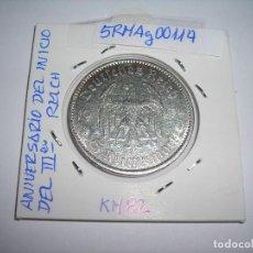 Monedas antiguas de Europa: MONEDA CIRCULADA DE 5 REICH MARK DE PLATA.1934 A. (MBC) III REICH.. Lote 158964126