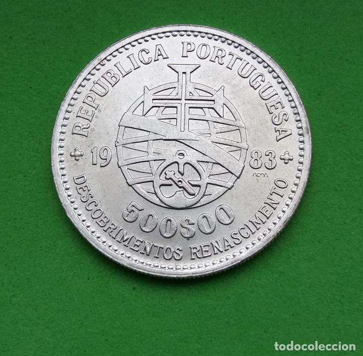 PORTUGAL - REPUBLICA PORTUGUESA - 1983 - 500 ESCUDOS - PLATA (Numismática - Extranjeras - Europa)