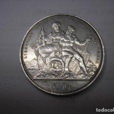 Monedas antiguas de Europa: SUIZA, 5 FRANCOS DE PLATA DE 1883. TIRO DE LUGANO. Lote 159355046
