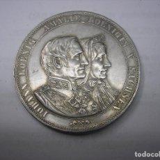 Monedas antiguas de Europa: ALEMANIA , SAJONIA. 2 THALER DE PLATA DE 1822-1872 .B. REINADO DE JUAN Y AMALIA DE SAJONIA. Lote 159355878