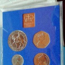 Monedas antiguas de Europa: REINO UNIDO. ESTUCHE OFICIAL DE MONEDAS DE 1977. Lote 159385846