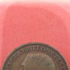 Monedas antiguas de Europa: ONE PENNY JORGE V BRONCE 1919. Lote 159571034