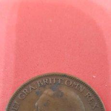 Monedas antiguas de Europa: ONE PENNY JORGE V BRONCE 1927. Lote 159572170