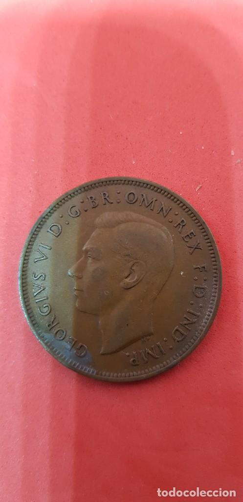 ONE PENNY JORGE VI BRONCE 1937 (Numismática - Extranjeras - Europa)