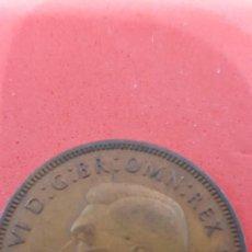Monedas antiguas de Europa: ONE PENNY JORGE VI BRONCE 1945. Lote 159574314