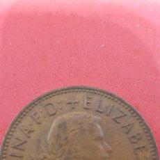 Monedas antiguas de Europa: ONE PENNY ELIZABETH II 1963. Lote 159659146