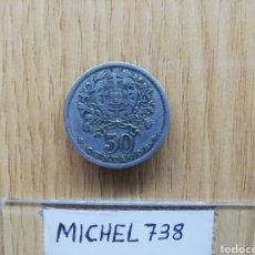 Monedas antiguas de Europa: MONEDA PORTUGAL 50 CENTAVOS AÑO 1931.. #KM 577#..REPÚBLICA PORTUGUESA... Lote 159841382