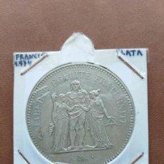Monedas antiguas de Europa: 50 FRANCOS FRANCIA PLATA 1974 AÑO ESCASO . Lote 159870302