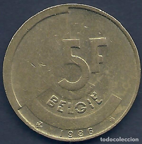 BÉLGICA - 5 FRANCOS 1986 EBC - LA DE LAS FOTOS - VISITA TAMBIÉN MIS OTROS LOTES (Numismática - Extranjeras - Europa)