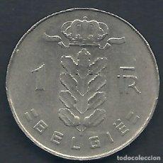 Alte Münzen aus Europa - BÉLGICA - 1 FRANCOS 1972 - MUY EBC - LA DE LAS FOTOS - VISITA TAMBIÉN MIS OTROS LOTES - 159881626