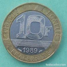 Alte Münzen aus Europa - FRANCIA - 10 FRANCOS 1989 - BIMETAL - EBC - LA DE LAS FOTOS - VISITA TAMBIÉN MIS OTROS LOTES - 159887714
