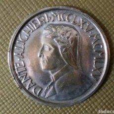 Monedas antiguas de Europa: MONEDA PLATA 0.400 GR DANTE. Lote 159991969