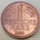 Monedas antiguas de Europa: ALEMANIA - RFA - 1 MARCO 1957 - F - MBC - MIRE MIS OTROS LOTES Y AHORRE GASTOS DE ENVÍO. Lote 160029874