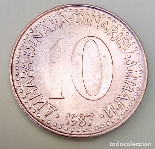YUGOSLAVIA- 10 DINAR 1987 - SC/EBC - MIRE MIS OTROS LOTES Y AHORRE GASTOS DE ENVÍO (Numismática - Extranjeras - Europa)