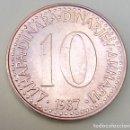 Monedas antiguas de Europa: YUGOSLAVIA- 10 DINAR 1987 - SC/EBC - MIRE MIS OTROS LOTES Y AHORRE GASTOS DE ENVÍO. Lote 160032726