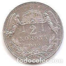 Monedas antiguas de Europa: HUNGRIA,2 CORONAS 1912,PLATA.. Lote 160183382