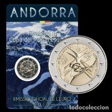 Monedas antiguas de Europa: ANDORRA 2019. COINCARD DE 2 EUROS CONMEMORATIVOS DE LA COPA DEL MUNDO DE ESQUI ALPINO. Lote 194224156