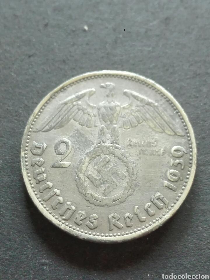 ALEMANIA 2 REICH 2 MARCOS 1939 D MUNICH (Numismática - Extranjeras - Europa)