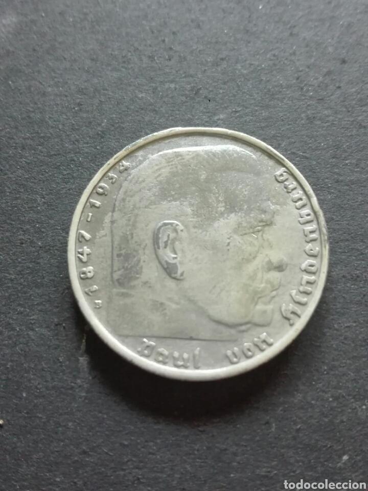 Monedas antiguas de Europa: Alemania 2 Reich 2 Marcos 1939 D Munich - Foto 2 - 160590316