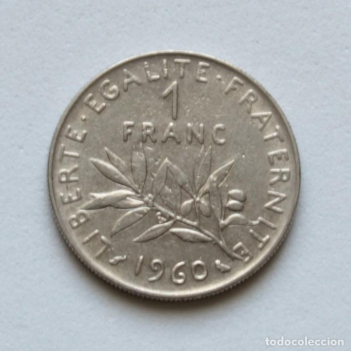 FRANCIA: 1 FRANC 1960 KM#925.1 (Numismática - Extranjeras - Europa)