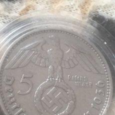 Monedas antiguas de Europa: 5 MARCOS PLATA ALEMANIA 1936 LETRA D III REICH. Lote 161107426