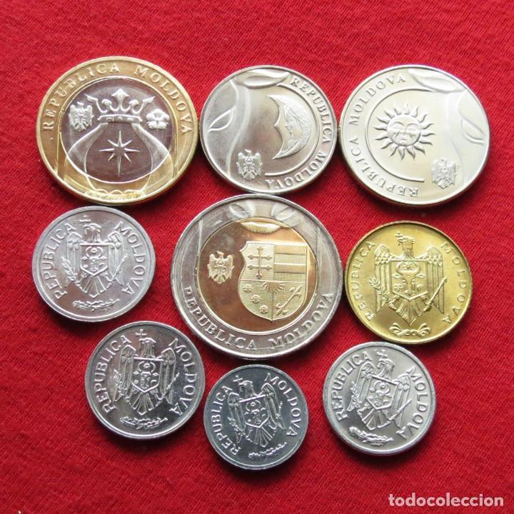 8 coins 2008 set 5-10-25-50 bani 1-2-5-10 lei Uncirculated Moldova 2018