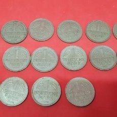 Monedas antiguas de Europa: ALEMANIA 1 DEUTSCHE MARK LOTE 16 MONEDAS DIFERENTES (VER DESCRIPCIÓN). Lote 161293198