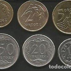 Monedas antiguas de Europa: POLONIA (VER AÑOS Y VALORES EN LA DESCRIPCION) - LOTE 6 MONEDAS CIRCULADAS. Lote 161304814