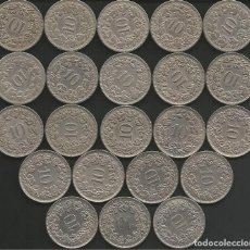 Monedas antiguas de Europa: SUIZA (VER AÑOS EN LA DESCRIPCION) - 10 RAPPEN - KM 27 - LOTE 22 MONEDAS CIRCULADAS. Lote 161305922