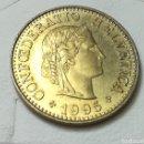 Monedas antiguas de Europa: 5 CÉNTIMOS SUIZOS 1995. Lote 161358181