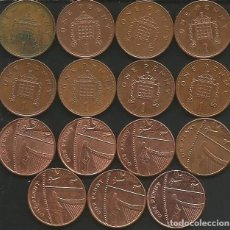 Monedas antiguas de Europa: REINO UNIDO (VER AÑOS EN DESCRIPCION) - 1 PENNY - KM VARIOS - LOTE DE 15 MONEDAS CIRCULADAS. Lote 161470378