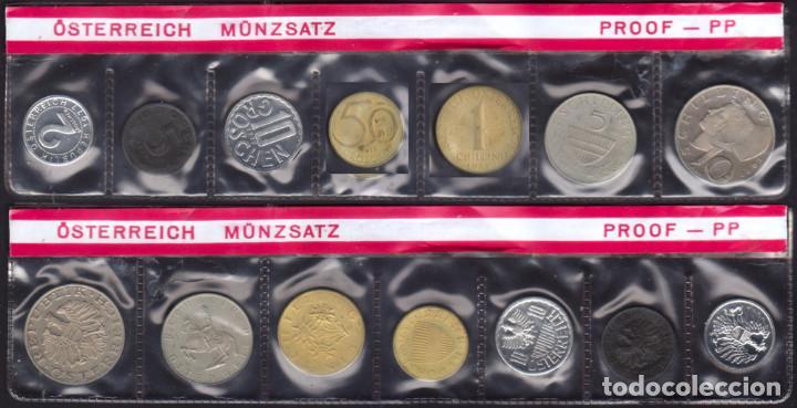 AUSTRIA - SERIE OFICIAL COMPLETA - 1977 - PROOF (Numismática - Extranjeras - Europa)