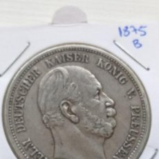 Monedas antiguas de Europa: RARA Y ESCASA MONEDA 5 MARKS PLATA IMPERIO ALÉMAN ESTADO PRUSIA 1875 B. Lote 135767870