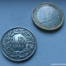 Monedas antiguas de Europa: MONEDA DE PLATA DE 1 FRANCO DE SUIZA AÑO 1958 . Lote 161895754