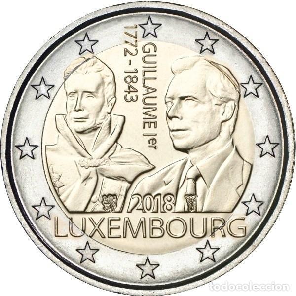 LUXEMBURGO 2 EUROS 2018 175 ANIVERSARIO DE LA MUERTE DEL GRAN DUQUE GUILLERMO I (Numismática - Extranjeras - Europa)