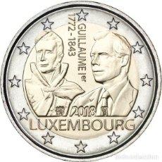 Monedas antiguas de Europa: LUXEMBURGO 2 EUROS 2018 175 ANIVERSARIO DE LA MUERTE DEL GRAN DUQUE GUILLERMO I. Lote 260559850