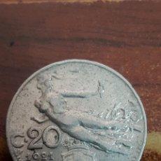 Monedas antiguas de Europa: ITALIA 20 CENTESIMI 1921. Lote 162450013