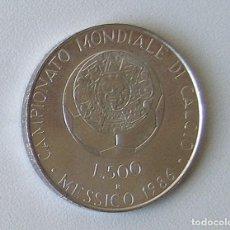 Monedas antiguas de Europa: MONEDA 500 LIRAS - ITALIA - 1986 - PLATA 835 - SC. Lote 162795098