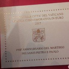 Monedas antiguas de Europa: 2017 VATICANO 2 EUROS CARTERA ANIVERSARIO MARTIRIO SANTI PUERTO E PAOLO. Lote 162905101