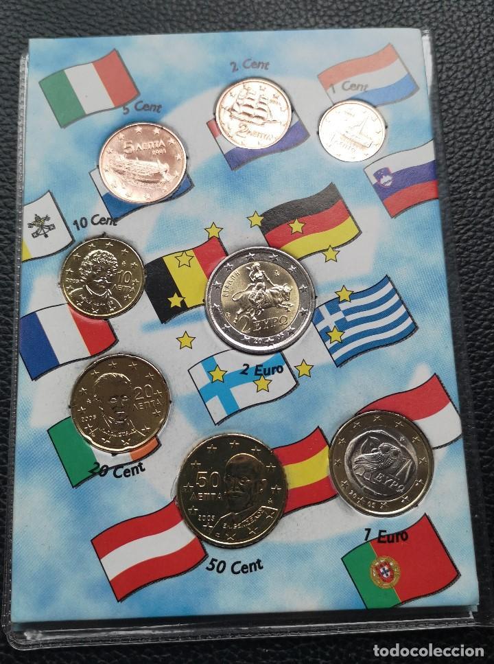Monedas antiguas de Europa: Euro Set MONEDAS DE EUROS DE GRECIA DE 2005 - Foto 2 - 163197066