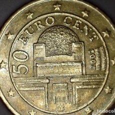 Monedas antiguas de Europa: 50 CENTIMOS CENT EURO AUSTRIA 2002 CIRCULADA - MONEDAS USADAS. Lote 163702206