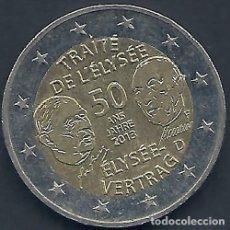 Monedas antiguas de Europa: FRANCIA - ALEMANIA - 2 EURO 2013 - MUY EBC - CONTRATO ELYSEE - EN UN CARTÓN - MIRE MIS OTROS LOTES. Lote 176323345