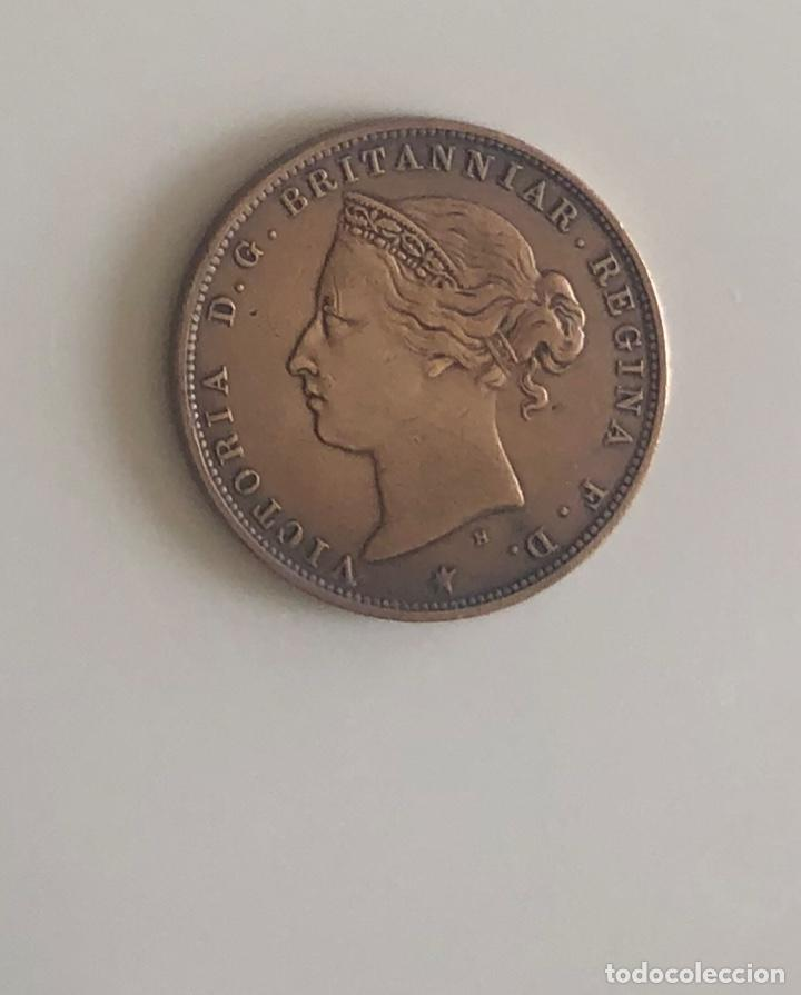 1/24 SHILLING VICTORIANO JERSEY 1877 (Numismática - Extranjeras - Europa)