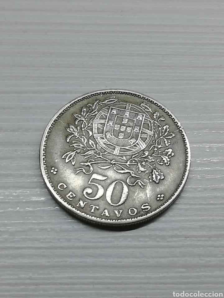 MONEDA PORTUGAL 50 CENTAVOS AÑO 1927..REPÚBLICA PORTUGUESA.. CUPRONIQUEL.. KM#577.. (Numismática - Extranjeras - Europa)