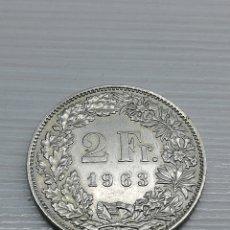 Monedas antiguas de Europa: MONEDA SUIZA 2 FRANCOS AÑO 1963.. PLATA 0,835.. CONFEDERACIÓN HELVÉTICA.. KM # 21.... Lote 164808632