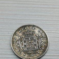 Monedas antiguas de Europa: MONEDA PORTUGAL 50 REIS AÑO 1900...CUPRONIQUEL.. REINO DE PORTUGAL.. CARLOS I... KM #545.... Lote 164809374