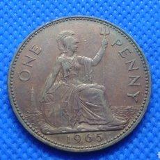 Monedas antiguas de Europa: REINO UNIDO 1 PENNY 1965 INGLATERRA GRAN BRETAÑA. Lote 164838048